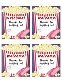 Back to School Night- Popcorn theme!