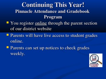 Back to School Night Power Point