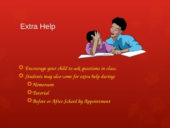 Back to School Night Power Point EDITABLE