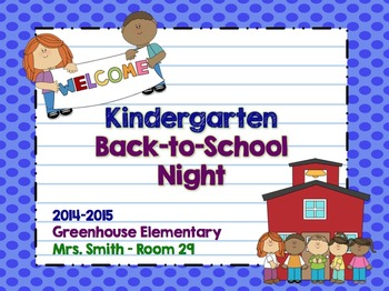 Back to School Night Presentation - EDITABLE with Cute Clipart