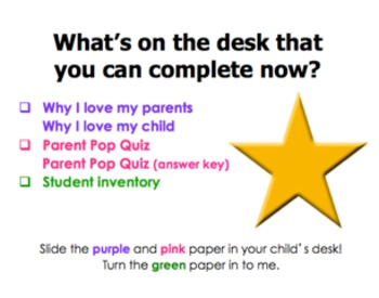 Back to School Night PowerPoint