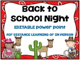 Back to School Night PowerPoint-Cowboy Theme (for distance