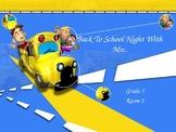 Back to School Night PowerPoint Grade 5