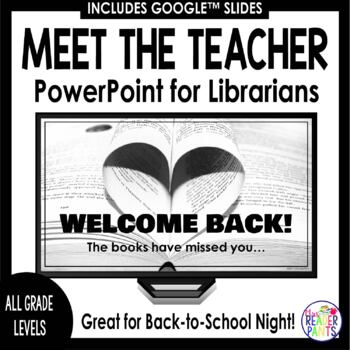 Back to School Night PowerPoint | Librarians