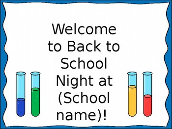 Back-to-School Night PowerPoint for Middle School Science- Editable