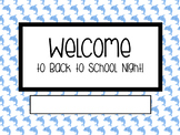 Back to School Night Powerpoint - Dolphins