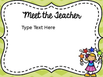 Back to School Night Powerpoint-Editable