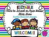 Virtual Meet the Teacher Open House House-Editable
