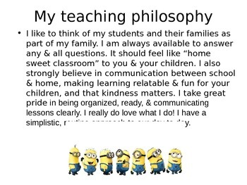 Back to School Night Powerpoint Minion themed