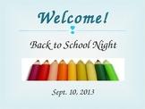 Back to School Night Powerpoint Presentation for Pre-K or Kindergarten
