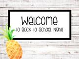 Back to School Night Powerpoint - Shiplap & Pineapple