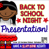 Back to School Night/Open House Power Point Presentation