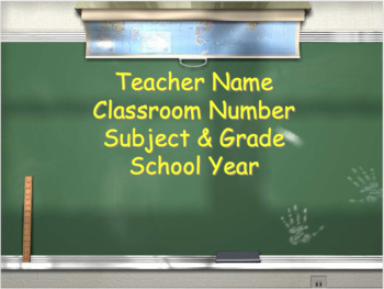 Back to School Night Presentation (Includes Sample)