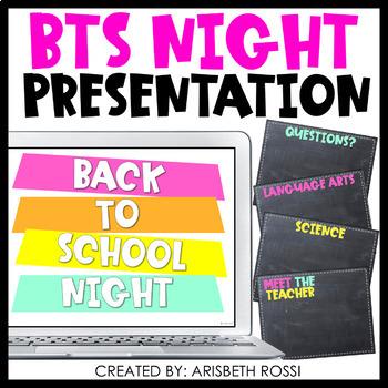 Back to School Night Presentation (Google Slides™ Version)