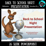Back to School Night Presentation {Editable}