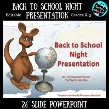 Back to School Night Presentation {Editable}