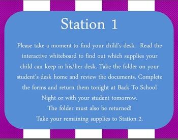 Back to School Night Presentation Packet