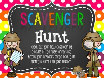 Back to School Night Scavenger Hunt {Grades K-3rd}
