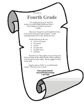 Back to School Night Scroll