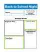 Back to School Night - Secondary & Elementary, Streamlined