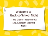 Back to School Night Slide Show