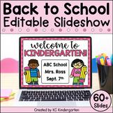 Back to School Night Slideshow | Editable Open House Presentation