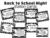 Back to School Night Station Cards