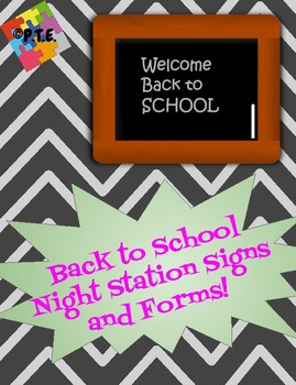 Back to School Night Stations