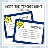 Back to School/Meet the Teacher Night Stations (EDITABLE)