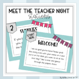Back to School/Meet the Teacher Night Stations (EDITABLE)