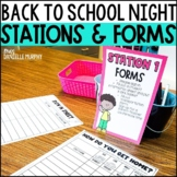 Back to School Night Stations and Forms EDITABLE