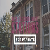 Back-to-School Night Stations for Parents