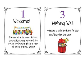 Back to School Night Stations for Parents - Signs and Printables