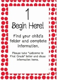 Back to School Night Steps Posters Polka Dots