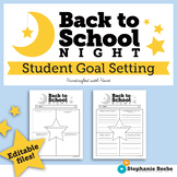 Back to School Night Student Goal Setting Sheet // No Prep and Editable Files