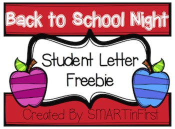 Back to School Night Student Letter