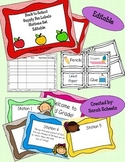 Back to School Night Supply Bin Labels and Stations Set - Editable