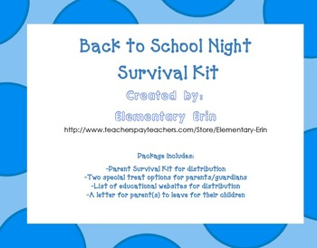 Back to School Night Survival Kit