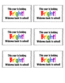 Back to School Night Tags