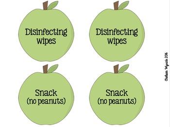 Back-to-School Night Teacher Wishlist Apples