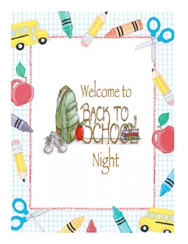 Back to School Night - UNIQUE Resource Package