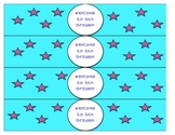Back to School Night Water Bottle Labels - 5th Grade