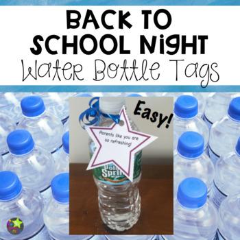 Back to School Night Water Bottle Tags