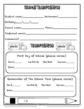 Back to School Night Welcome Packet *editable