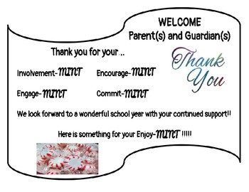 Back to School Night- Welcome Sign (MINTS)