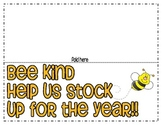 Back to School Night Wishlist: Bee Kind and help us stock up!!