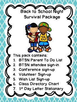 Back to School Night and Conference Scheduling Organizers
