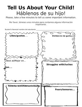 Back to School Night in English and Spanish