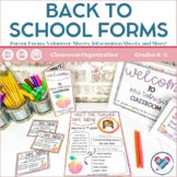 Back to School Night or Meet the Teacher Pages Editable and Digital