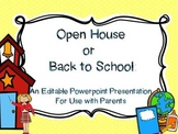 Back to School Night or Open House: An Editable PPT for Pa